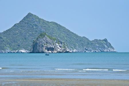 pu: beautiful beach in Bang Pu on a sunny day Stock Photo