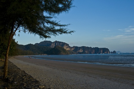 beautiful sunset at the Andaman Sea in Thailand Stock Photo - 8864103