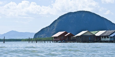 muslim village Panyi in the Phang Nga Marine Park photo