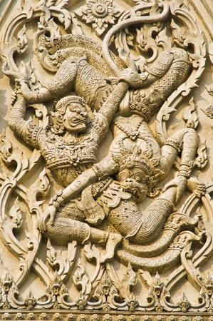 detail of the beautiful temple area Wat Mahathat in Phetchaburi photo