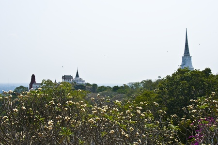 beautiful view of the hill Khao Khlang and a part of the kings palace photo