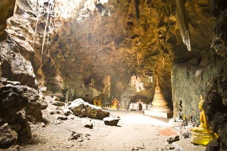 part of the cave Tham Khao Luang near Phetchaburi photo