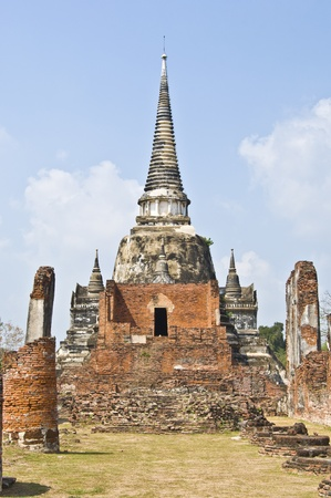 part of the Wat Si Sanphet in Ayutthaya photo