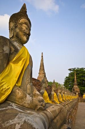 part of the ruin of Wat Yai Chai Mongkol in Ayutthaya photo