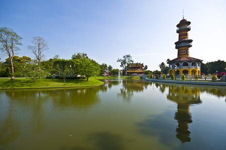 part of the royal palace area in Bang Pa In photo