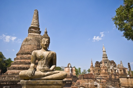 part of the ruin of Wat Mahathat in Sukhothai
