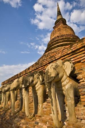 part of the ruin of Wat Sorasak in Sukhothai photo