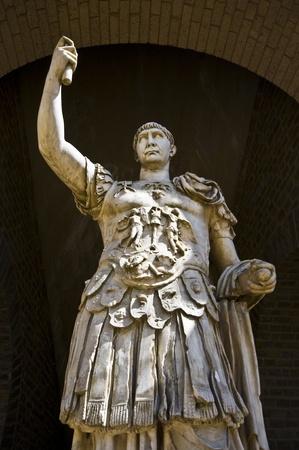 statue of the roman emperor Marcus Ulpius Traianus in Xanten