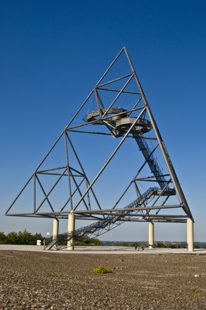 westfalen: famous tetraeder on a coal mining tip in Bottrop