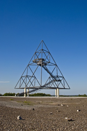 famous industries: famous tetraeder on a coal mining tip in Bottrop