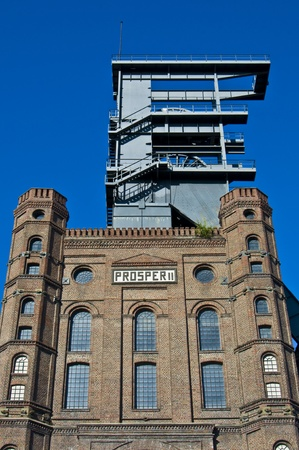 westfalen: view of the Malakoff tower of Zeche Prosper II