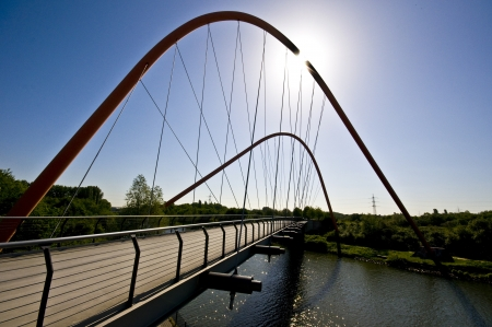 famous bridge crossing the Rhein-Herne Canal in Gelsenkirchen