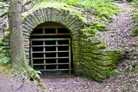 abandoned adit in the Muttental in Witten Фото со стока - 10224705