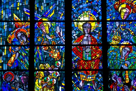 stained glass windows of a church in Bochum Editorial