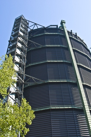 westfalen: view of the huge former gasometer in Oberhausen Stock Photo
