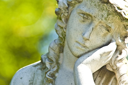 detail of an old marble tombstone at the old cemetery in Bonn Standard-Bild