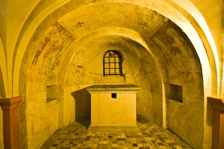 detail of the medieval former private Helena chapel in Bonn Editorial