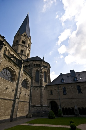 westfalen: detail of the medieval minster in Bonn Editorial