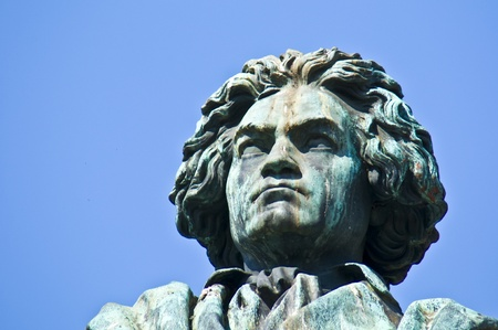 westfalen: statue of Beethoven on a sunny day in Bonn