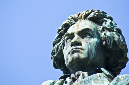ludwig: statue of Beethoven on a sunny day in Bonn