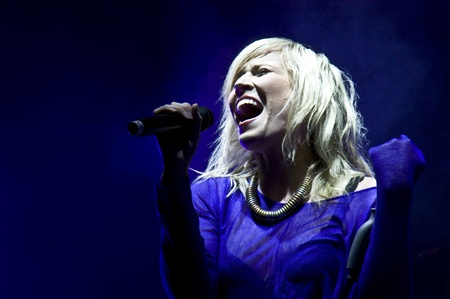 HALLE, GERMANY - AUGUST 27: Natasha Bedingfield performs at the 75th Laternenfest on August 27, 2011 in Halle, Germany.