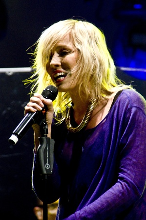 HALLE, GERMANY - AUGUST 27: Natasha Bedingfield performs at the 75th Laternenfest on August 27, 2011 in Halle, Germany. Stock Photo - 10404408