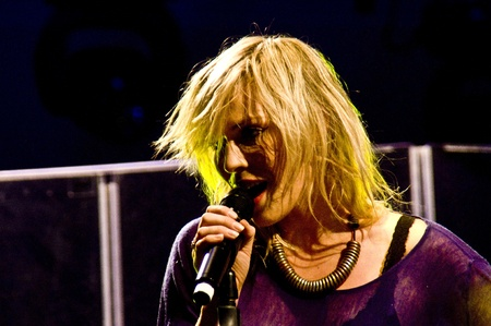 HALLE, GERMANY - AUGUST 27: Natasha Bedingfield performs at the 75th Laternenfest on August 27, 2011 in Halle, Germany. Stock Photo - 10404409