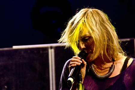laternenfest: HALLE, GERMANY - AUGUST 27: Natasha Bedingfield performs at the 75th Laternenfest on August 27, 2011 in Halle, Germany.