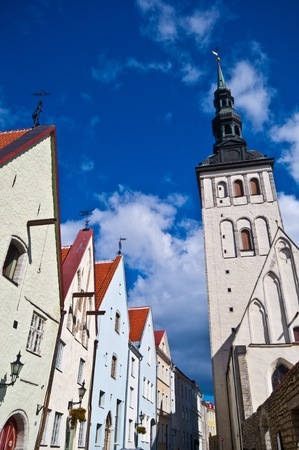 view of the St. Nicholas Church in Tallinn photo