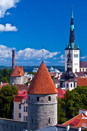 view of the medieval town of Tallinn from the Toompea photo