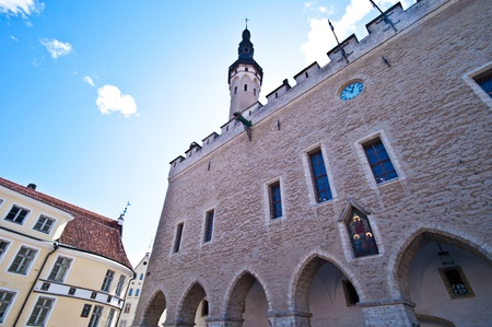 old town townhall: medieval townhall in the old town of Tallinn