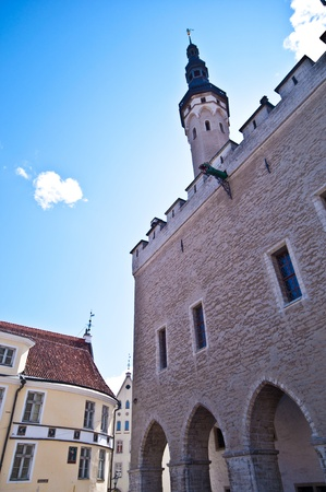 townhall: medieval townhall in the old town of Tallinn