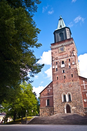 turku: exterior of the medieval cathedral of Turku