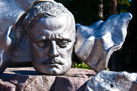 sibelius: part of the monument for Sibelius in Helsinki