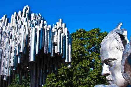 part of the monument for Sibelius in Helsinki Stock Photo - 10868301