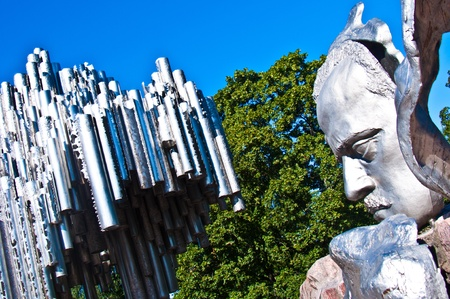 part of the monument for Sibelius in Helsinki Stock Photo - 10868304