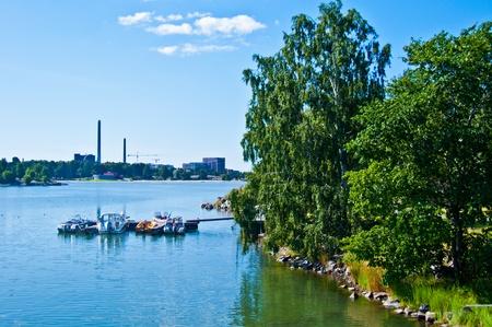 small pier in Helsinki in natural scenery