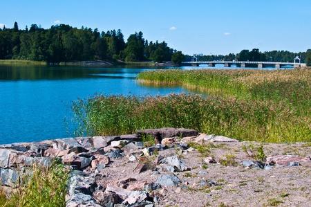 famous bridge to the island Seurasaari in Helsinki photo