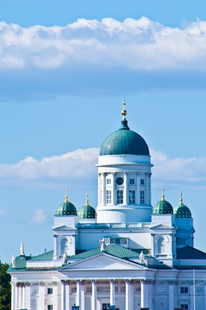 detail of the monumental Helsinki Cathedral in the sun photo