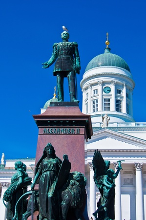 view of the senate square with the cathedral in Helsinki Stock Photo - 11534626