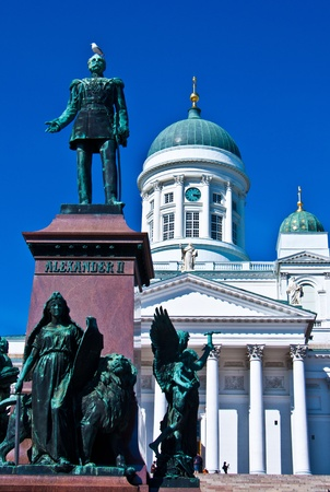 view of the senate square with the cathedral in Helsinki Stock Photo - 11534622