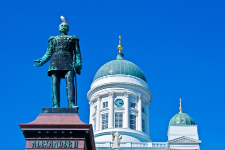 view of the senate square with the cathedral in Helsinki Stock Photo - 11534541