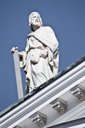 detail of the famous cathedral of Helsinki photo