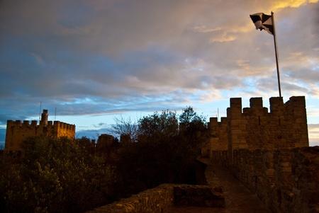 jorge: part of the Castelo Sao Jorge in Lisbon
