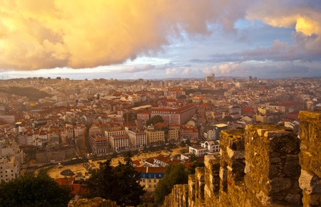 view over the roofs of Lisbon from the castle Stock Photo - 13393599