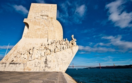 discoveries: view of the Padrao dos Descobrimentos in Lisbon Editorial