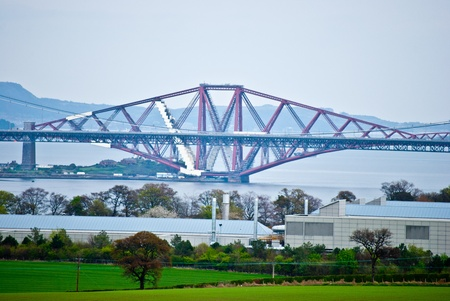the bridges over the Firth of Forth in Scotland photo