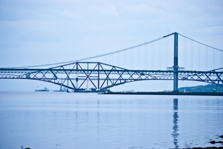 forth: the bridges over the Firth of Forth in Scotland Stock Photo