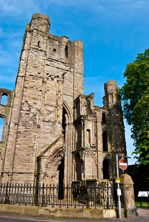 part of the ruins of Kelso Abbey in scotland Stock Photo - 13556679