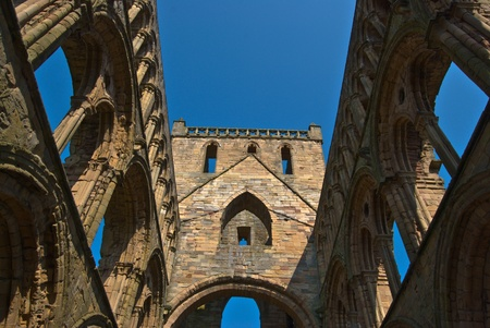 abbey ruins abbey: part of the ruins of Jedburgh Abbey in scotland